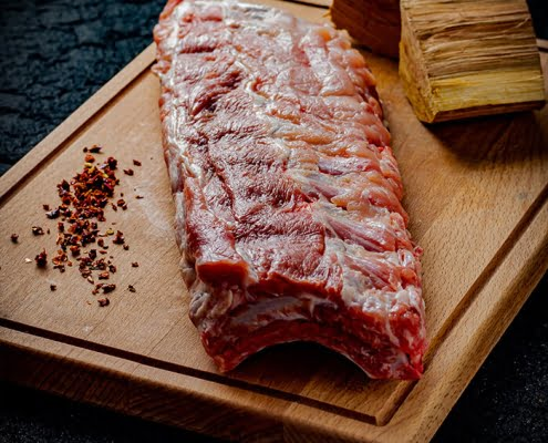 spare ribs, barbecuevlees